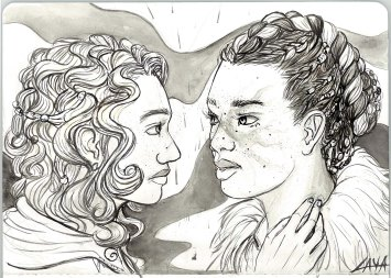 Ink. Maeve and Lucent from The Young Elites.